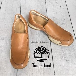 Timberland buttery soft leather slip on loafers